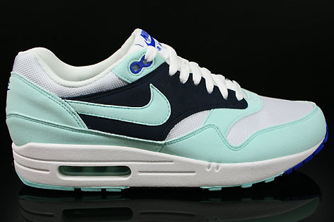 release date: be722 79481 Nike WMNS Air Max 1 White Mint Candy Obsidian Game Royal