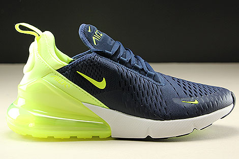 Nike Womens Air Max 270 Obsidian Volt Glow Volt Glow Right