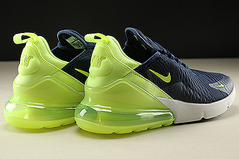 Nike Womens Air Max 270 Obsidian Volt Glow Volt Glow Back view