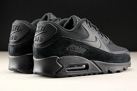 Nike WMNS Air Max 90 Black Black Black Back view