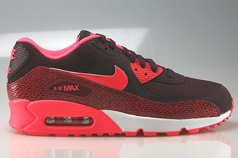 Nike WMNS Air Max 90 Deep Burgundy Hyper Punch Team Red