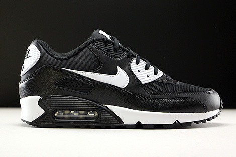Nike WMNS Air Max 90 Essential Black White Metallic Silver Right