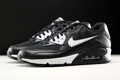 Nike WMNS Air Max 90 Essential Black White Metallic Silver Profile