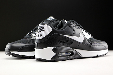 wholesale dealer fe7cb b221a ... Nike WMNS Air Max 90 Essential Black White Metallic Silver Inside ...