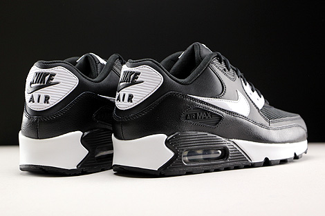 Nike WMNS Air Max 90 Essential Black White Metallic Silver Back view