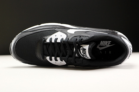 Nike WMNS Air Max 90 Essential Black White Metallic Silver Over view