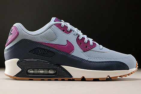 Nike WMNS Air Max 90 Essential Blue Grey Bright Grape Right