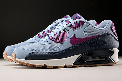 Nike WMNS Air Max 90 Essential Blue Grey Bright Grape Profile