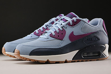 Nike WMNS Air Max 90 Essential Blue Grey Bright Grape Sidedetails