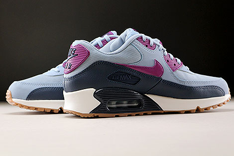 Nike WMNS Air Max 90 Essential Blue Grey Bright Grape Inside