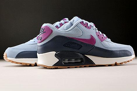 Nike WMNS Air Max 90 Essential Blaugrau Violett Dunkelblau Weiss Innenseite