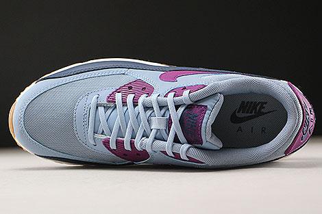 Nike WMNS Air Max 90 Essential Blaugrau Violett Dunkelblau Weiss Oberschuh