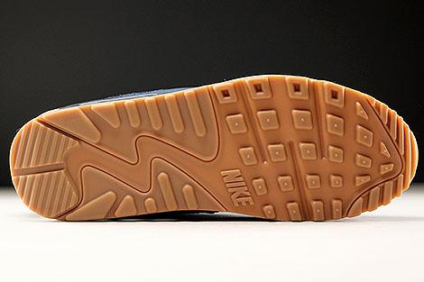 Nike WMNS Air Max 90 Essential Blaugrau Violett Dunkelblau Weiss Laufsohle