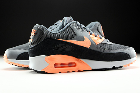 Nike WMNS Air Max 90 Essential Dark Grey Sunset Glow Black Pure Platinum Inside