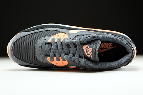 Nike WMNS Air Max 90 Essential Dark Grey Sunset Glow Black Pure Platinum Over view