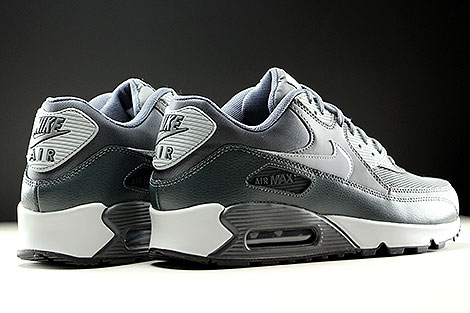 Nike WMNS Air Max 90 Essential Dark Grey Wolf Grey Anthracite Back view