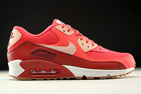 Nike WMNS Air Max 90 Essential Rot Orange Rose Weiss Rechts
