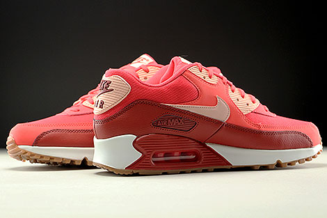 Nike WMNS Air Max 90 Essential Rot Orange Rose Weiss Innenseite