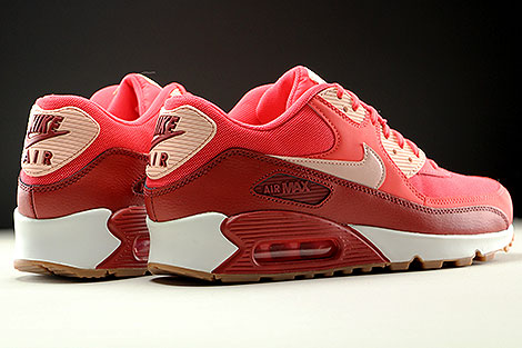 Nike WMNS Air Max 90 Essential Rot Orange Rose Weiss Rueckansicht