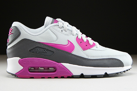 Nike WMNS Air Max 90 Essential Pure Platinum Fuchsia Flash Dark Grey White Right