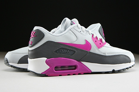 Nike WMNS Air Max 90 Essential Pure Platinum Fuchsia Flash Dark Grey White Inside