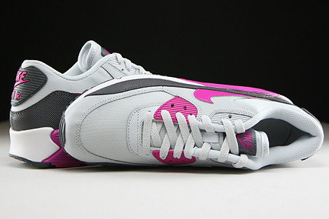 Nike WMNS Air Max 90 Essential Pure Platinum Fuchsia Flash Dark Grey White Over view