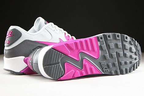 Nike WMNS Air Max 90 Essential Hellgrau Fuchsia Dunkelgrau Weiss Laufsohle