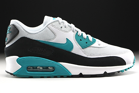 Nike WMNS Air Max 90 Essential Pure Platinum Radiant Emerald Black Summit White