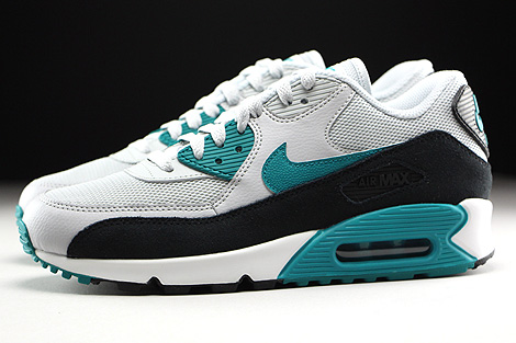 Nike WMNS Air Max 90 Essential Pure Platinum Radiant Emerald Black Summit White Profile