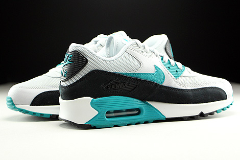Nike WMNS Air Max 90 Essential Pure Platinum Radiant Emerald Black Summit White Inside