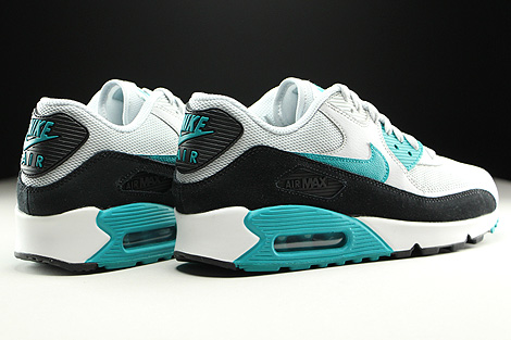 Nike WMNS Air Max 90 Essential Pure Platinum Radiant Emerald Black Summit White Back view