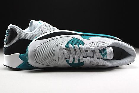 Nike WMNS Air Max 90 Essential Pure Platinum Radiant Emerald Black Summit White Over view