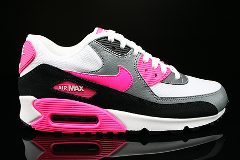 reputable site a94fc b7b15 Nike WMNS Air Max 90 Essential White Hyper Pink Cool Grey Black ...
