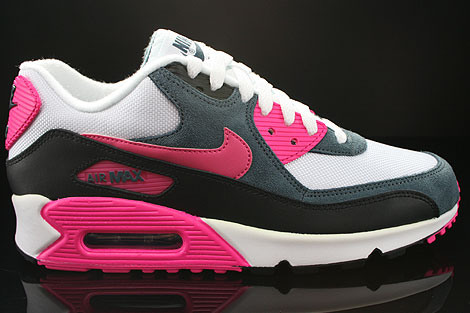 on sale e8a39 06286 Nike WMNS Air Max 90 White Pink Foil Black Dark Armory 616730-100 ...