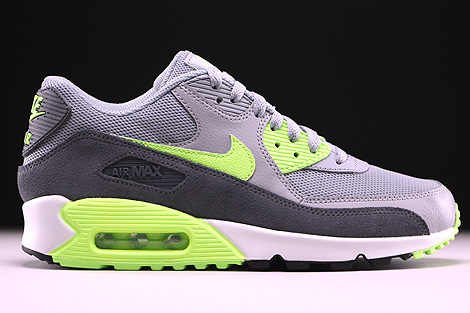 Nike WMNS Air Max 90 Essential Wolf Grey Ghost Green Dark Grey Summit White Right