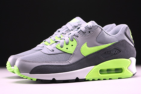 ... Nike WMNS Air Max 90 Essential Wolf Grey Ghost Green Dark Grey Summit  White Profile ...