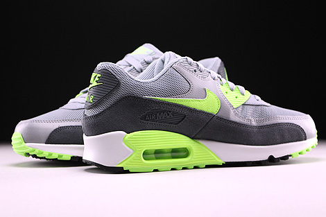 Nike WMNS Air Max 90 Essential Wolf Grey Ghost Green Dark Grey Summit White Inside