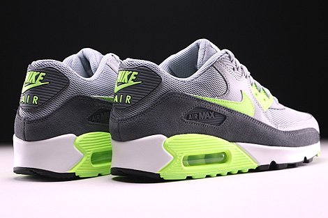 Nike WMNS Air Max 90 Essential Wolf Grey Ghost Green Dark Grey Summit White Back view