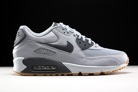 Nike WMNS Air Max 90 Essential Wolf Grey Dark Grey Pure Platinum Gum Right