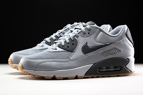 Nike WMNS Air Max 90 Essential Wolf Grey Dark Grey Pure Platinum Gum Profile