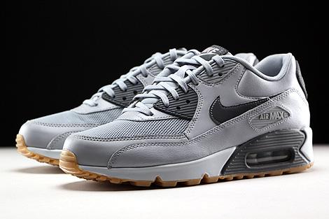 Nike WMNS Air Max 90 Essential Wolf Grey Dark Grey Pure Platinum Gum Sidedetails