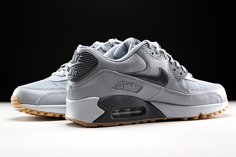 Nike WMNS Air Max 90 Essential Wolf Grey Dark Grey Pure Platinum Gum Inside