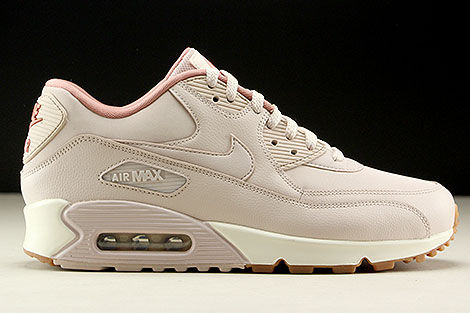 Nike WMNS Air Max 90 Leather Silt Red Silt Red Red Stardust Right