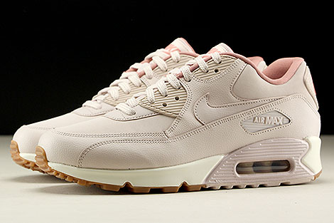 newest 7733c 16af2 ... Nike WMNS Air Max 90 Leather Rosa Rose Creme Seitenansicht ...