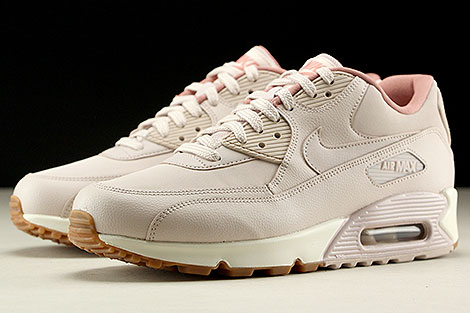 Nike WMNS Air Max 90 Leather Silt Red Silt Red Red Stardust Sidedetails