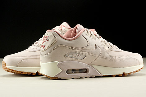Nike WMNS Air Max 90 Leather Rosa Rose Creme Innenseite