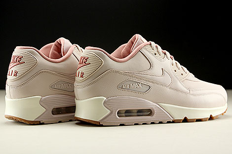 Nike WMNS Air Max 90 Leather Rosa Rose Creme Rueckansicht