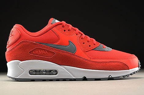 Nike WMNS Air Max 90 Orange Grau Weiss