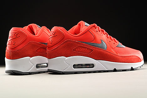 Nike WMNS Air Max 90 Max Orange Cool Grey White Back view