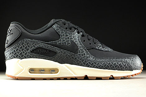 Nike WMNS Air Max 90 Premium Black Sail Gum Medium Brown Right